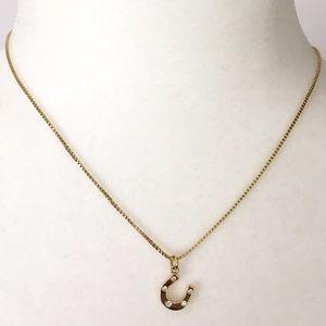 Kate Spade 12K Gold Plated Horseshoe Necklace